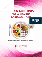 Dietary Guidelines for a Healthy Postnatal Diet