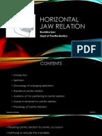 Horizontal Jaw Relation