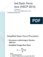 Simplified Static Force Procedure