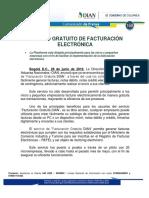 168-Servicio Gratuito de Facturación Electrónica