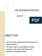 Elements of Administration Ppt 1