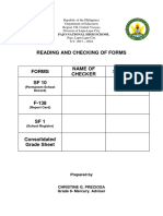 Reading and Checking of Forms ff