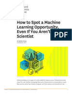 Spot a Machine learning oppurtunity