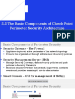 1.2 the Basic Components of Check Point Perimeter Security Architecture