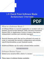 1.5 Check Point Software Blade Architecture Overview