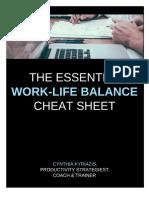The Essential Work-Life Balance Cheat Sheet