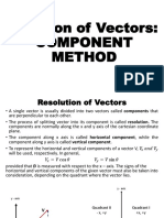 Addition of Vectors Using' Component Method