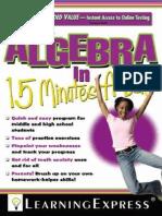 Algebra in 15 Minutes a Day.PDF
