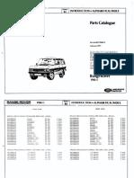Range Rover Classic Parts manual 1986 - 1991