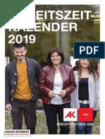 AK Arbeitszeitkalender 2019