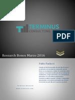 Terminus Research Bonos Marzo 2016