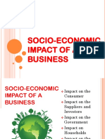 Socio-Economic Impact of a Business