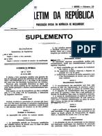 MOÇAMBIQUE – Lei Do Associativismo 1991