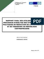 RAPPORT FINAL SUR LE PROCESSUS D'ANALYSE DES STRATEGIES