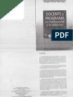 Docente y Programa Díaz Barriga