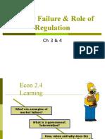 Market Failure & Role of Regulation