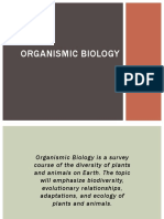 Organismic Biology