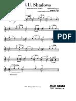 1st Alto Saxophone- Shadows