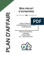 Modele Plan Affaires