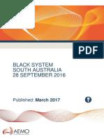 Integrated Final Report SA Black System 28 September 2016