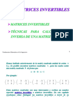 Matrices invertibles