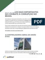 Os 5 Órgãos Mais Importantes No Combate à Corrupção No Brasil - Politize!