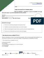 Prueba de Diagnóstico Primero Medio