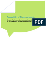Accessibility of Disqus comments