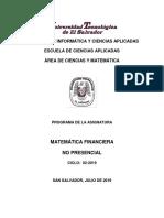 matematica finaciera
