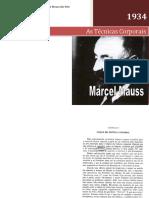As tecnicas corporais de Marcel Mauss