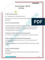 (BIF 401) Current Solved Papers.