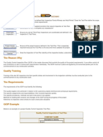 QC Inspection and Test Plan (Overview)