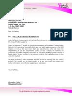 Supplier Pre Qualification 2011