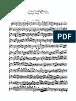 Haydn Joseph Symphonie 101 Majeur the Clock Violins 72205