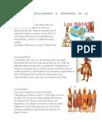 Culturas Precolombinas o Indígenas de La América