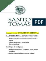 INTELIGENCIA ESPIRITUAL Matemática Resolver Problemas