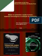 Metais No Ambiente e Saúde Humana Aspectos Toxicologicos Da Exposição