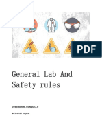 General Lab and Safety Rules