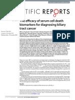 La Eficacia de Los Biomarcadores de Muerte Celular en Suero Para Diagnosticar El Cáncer Del Tracto Biliar