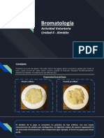 Bromatología Actividad Voluntaria Unidad 4 - Almidón