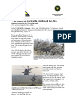 173d Airborne Conducts Combined Live Fire
