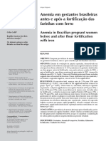 Anemia Em Gestantes Brasileiras Antes e Após a Fortificação Das Farinhas Com Ferro