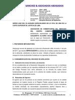 Escrito Apelacion Medida Cautelar Particion Jud Monterrico.