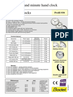 643191I Analogue Clocks Profil 930