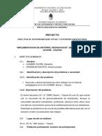 Proyecto de Historial Pedagogico.