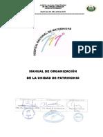 Manual de organización de la unidad de patrimonio