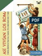 asi vivian los romanos