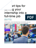 6 Smart Tips for Turning Your Internship Into a Full-time Job