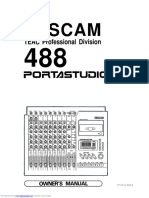 TASCAM 488 Portastudio Manual