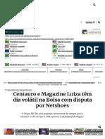 Centauro e Magazine Luiza Têm Dia Volátil Na Bolsa Com Disputa Por Netshoes - InfoMoney